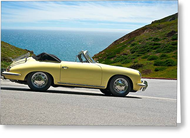 Rally Greeting Cards - 1965 Porsche 356 C Greeting Card by Dave Koontz