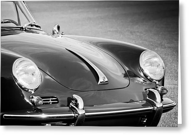 Famous Photographer Greeting Cards - 1965 Porsche 356c Cabriolet -1088bw Greeting Card by Jill Reger