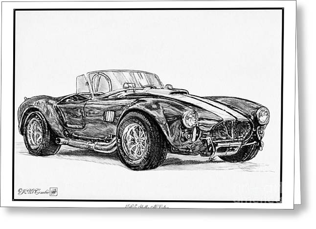 Jem Fine Arts Greeting Cards - 1965 Shelby AC Cobra Greeting Card by J McCombie