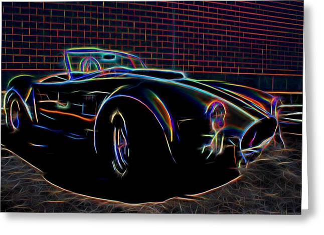 Small Convertible Greeting Cards - 1965 Shelby Cobra - 2 Greeting Card by Becca Buecher