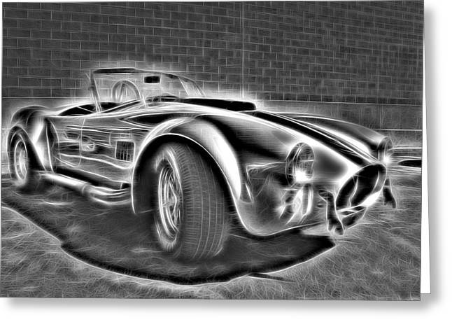 Small Convertible Greeting Cards - 1965 Shelby Cobra - 3 Greeting Card by Becca Buecher