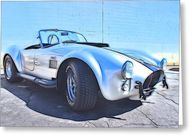 Small Convertible Greeting Cards - 1965 Shelby Cobra - 5 Greeting Card by Becca Buecher