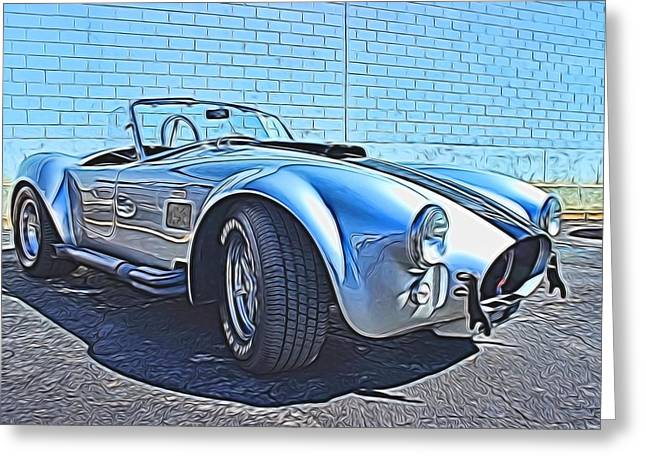 Small Convertible Greeting Cards - 1965 Shelby Cobra- 1 Greeting Card by Becca Buecher