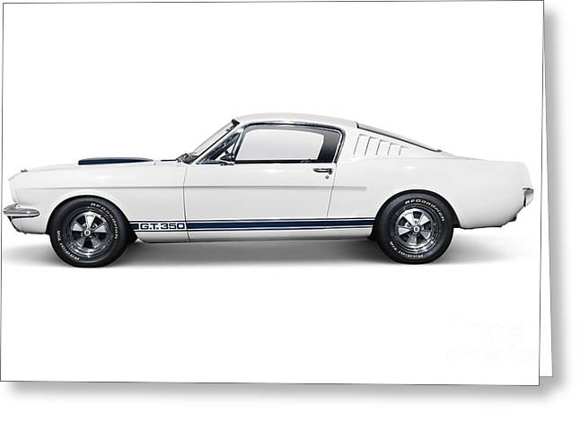 Mustang Gt350 Greeting Cards - 1965 Shelby GT350 Mustang retro sports car Greeting Card by Oleksiy Maksymenko