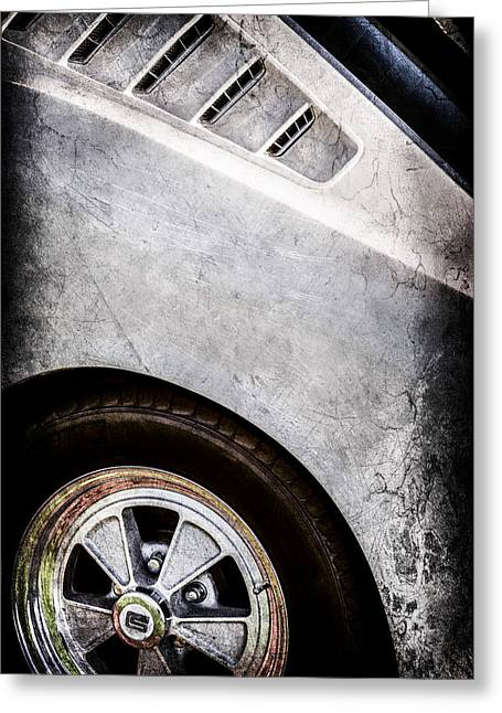 Mustang Gt350 Greeting Cards - 1965 Shelby Mustang GT350 Emblem -0822ac Greeting Card by Jill Reger