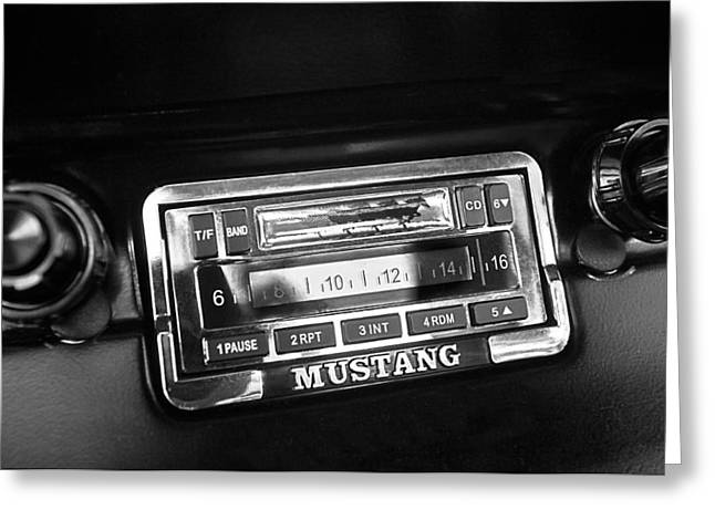 1965 Mustang Greeting Cards - 1965 Shelby Prototype Ford Mustang Radio Greeting Card by Jill Reger