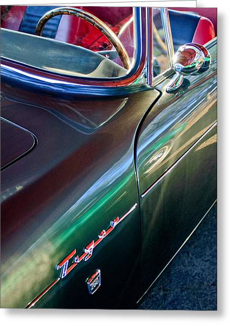 Famous Photographers Greeting Cards - 1965 Sunbeam Tiger Greeting Card by Jill Reger