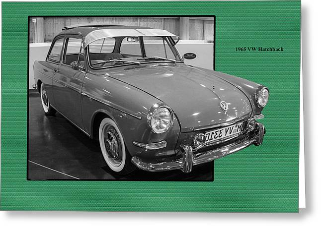Ron Roberts Photography Greeting Cards - 1965 VW Notchback Greeting Card by Ron Roberts