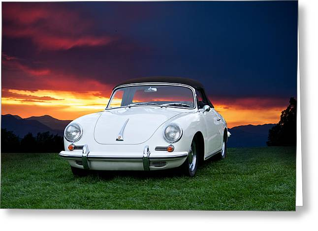 Rally Greeting Cards - 1966 356B Cabriolet Greeting Card by Dave Koontz