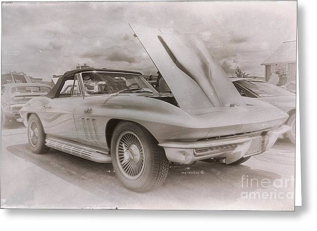 Lube Greeting Cards - 1966 Big Block Vette Rev A Greeting Card by Michael Rankin