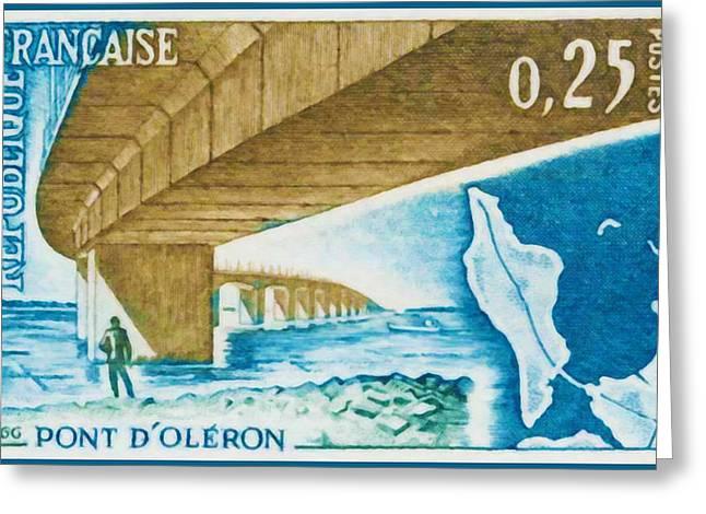Inauguration Greeting Cards - 1966 Bridge Oleron Greeting Card by Lanjee Chee
