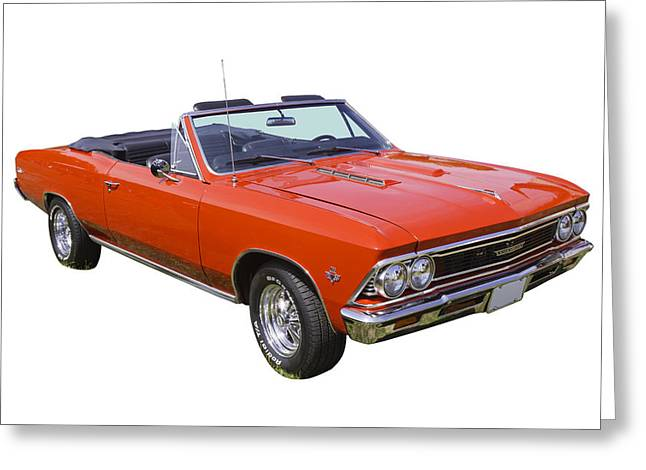 Old Auto Greeting Cards - 1966 Chevrolet Chevelle Convertible 283  Greeting Card by Keith Webber Jr