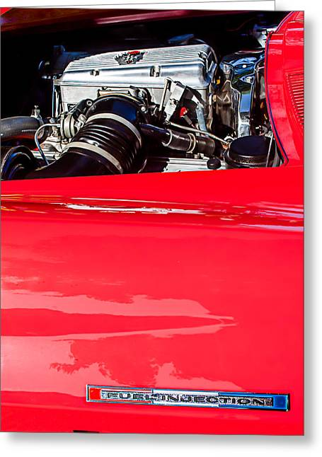 Rd Greeting Cards - 1966 Chevrolet Corvette RDS 427 Engine Greeting Card by Jill Reger