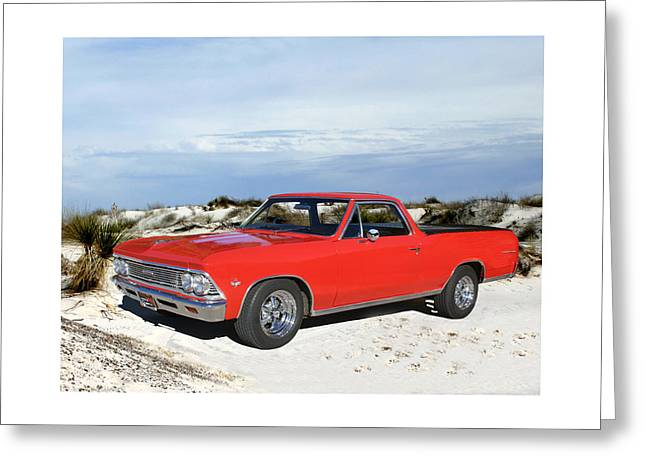 Recently Sold -  - Base Path Greeting Cards - 1966 Chevrolet El Camino 327 Greeting Card by Jack Pumphrey