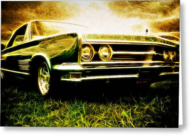 Aotearoa Greeting Cards - 1966 Chrysler 300 Greeting Card by Phil