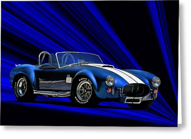 High-performance Luxury Car Greeting Cards - 1966 Cobra 427 cu in Greeting Card by Dave Koontz
