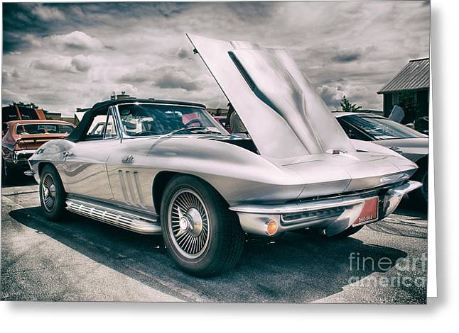 Lube Greeting Cards - 1966 Big Block Vette Greeting Card by Michael Rankin