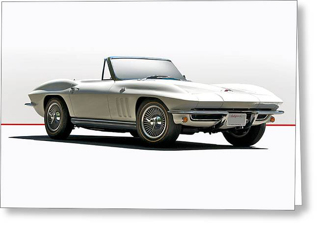 Transmission Greeting Cards - 1966 Corvette in Studio Setting Greeting Card by Dave Koontz
