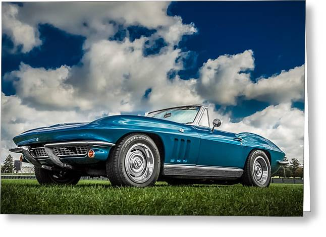 Indy Car Greeting Cards - 1966 Corvette Stingray  Greeting Card by Ron Pate