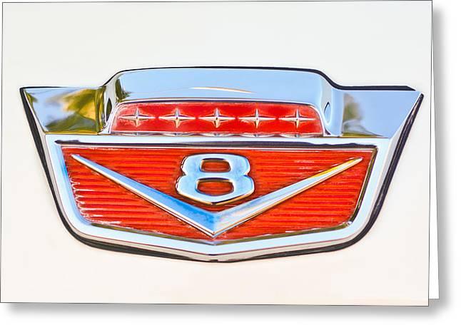 Classic Pickup Greeting Cards - 1966 Ford F100 Pickup Truck Emblem Greeting Card by Jill Reger