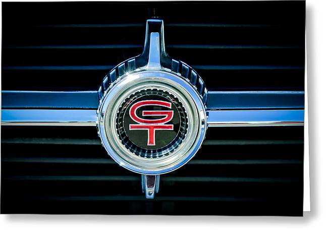 Fairlane Greeting Cards - 1966 Ford Fairlane GT Grille Emblem Greeting Card by Jill Reger