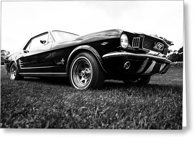 Phil Motography Clark Photographs Greeting Cards - 1966 Ford Mustang 289 Greeting Card by motography aka Phil Clark