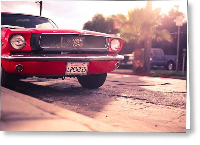 Chrome Greeting Cards - 1966 Ford Mustang Convertible Greeting Card by Gianfranco Weiss