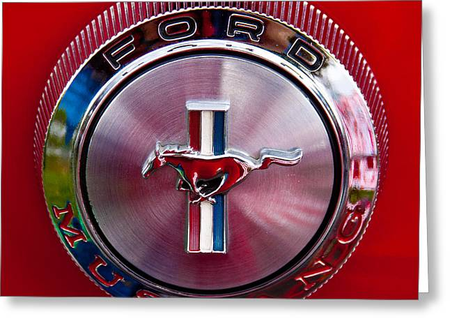 Collector Hood Ornament Greeting Cards - 1966 Ford Mustang Greeting Card by David Patterson