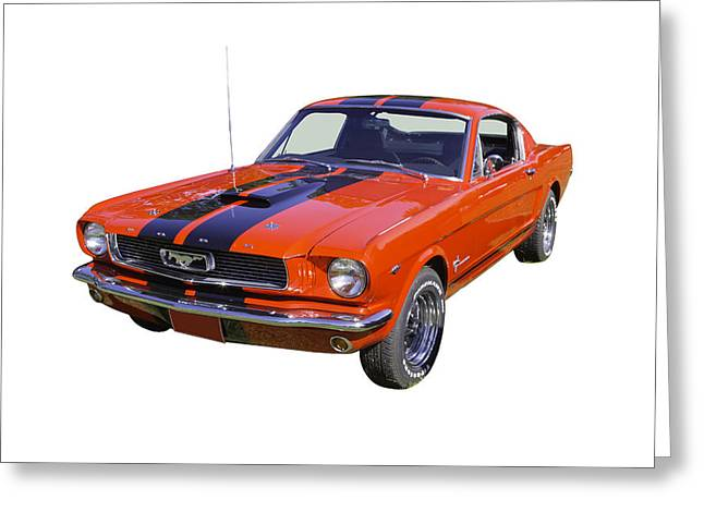 Horse Power Greeting Cards - 1966 Ford Mustang Fastback Greeting Card by Keith Webber Jr