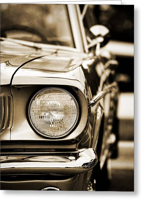 1964 Ford Emblems Greeting Cards - 1966 Ford Mustang Greeting Card by Gordon Dean II