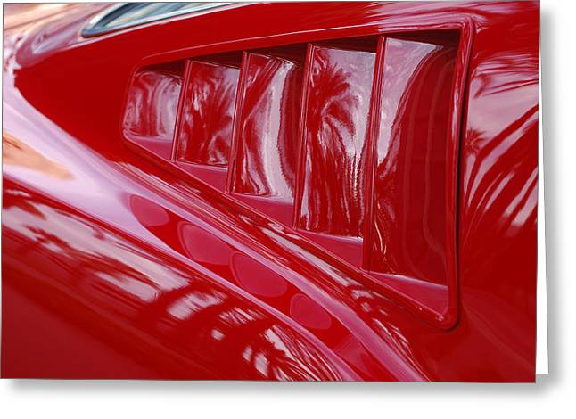 Scoop Greeting Cards - 1966 Ford Mustang GT Side Scoops -032c Greeting Card by Jill Reger