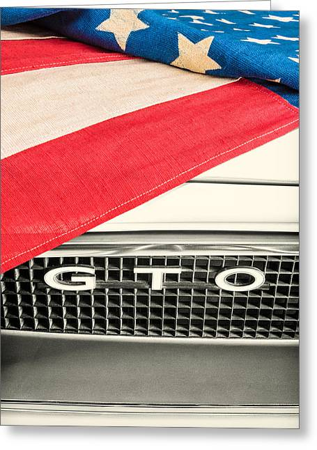 Sixties Style Automobile Greeting Cards - 1966 GTO Heritage DT Greeting Card by Martin Bergsma