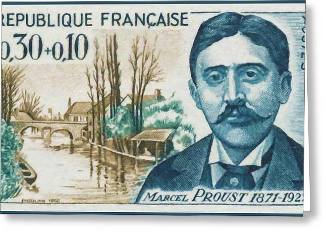 Eure Greeting Cards - 1966 Marcel Proust 1871-1922 Greeting Card by Lanjee Chee