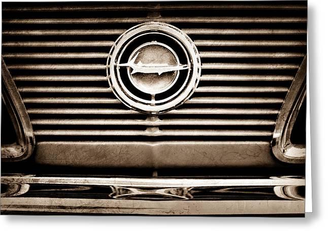 Cuda Greeting Cards - 1966 Plymouth Barracuda - Cuda - Emblem Greeting Card by Jill Reger