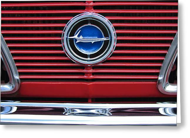 Plymouth Greeting Cards - 1966 Plymouth Barracuda - Cuda Grille Emblem Greeting Card by Jill Reger