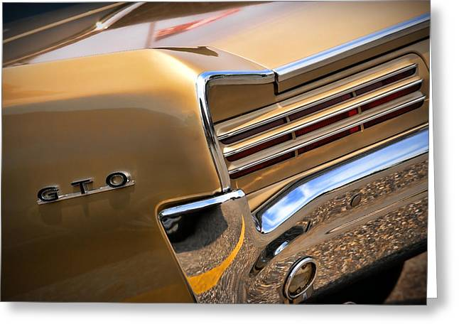 Indy Car Greeting Cards - 1966 Pontiac GTO Tail Greeting Card by Gordon Dean II