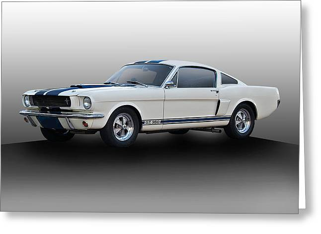 Spoiler Greeting Cards - 1966 Shelby Mustang GT350 I Greeting Card by Dave Koontz