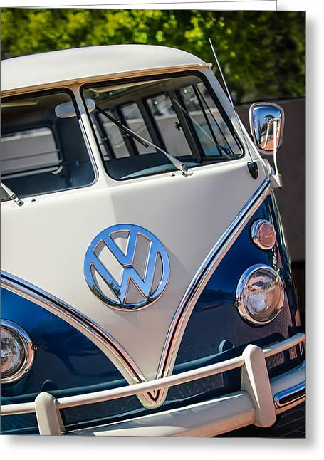 Micro Greeting Cards - 1966 Volkswagen Micro Bus -1012c Greeting Card by Jill Reger