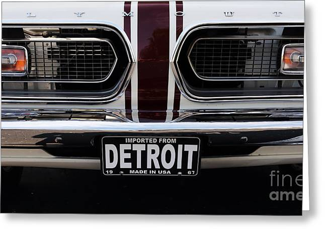 Antique Automobiles Photographs Greeting Cards - 1967 Barracuda Greeting Card by Dennis Hedberg