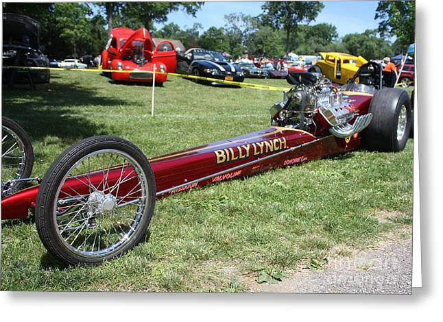 1967 Billy Lynch's Top Fuel Dragster Greeting Card by JOHN TELFER