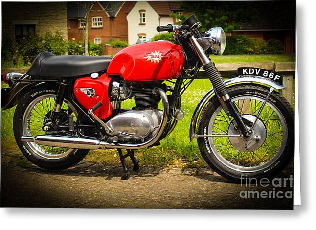 Rene Triay Photography Greeting Cards - 1967 BSA Spitfire Greeting Card by Rene Triay Photography
