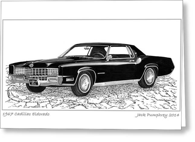 Division Greeting Cards - 1967 Cadillac Eldorado Greeting Card by Jack Pumphrey