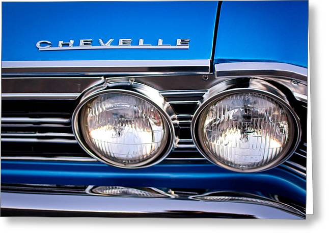 Headlight Greeting Cards - 1967 Chevrolet Chevelle Super Sport Headlight Greeting Card by Jill Reger
