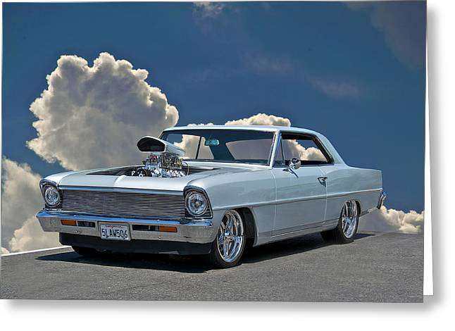 Rally Greeting Cards - 1967 Chevrolet Nova Greeting Card by Dave Koontz