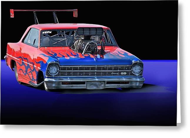 Displacement Greeting Cards - 1967 Chevrolet Nova SS Pro Mod Greeting Card by Dave Koontz