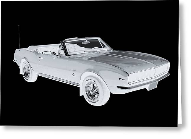 Red Chevrolet Greeting Cards - 1967 Convertible Camaro Pop Art Greeting Card by Keith Webber Jr