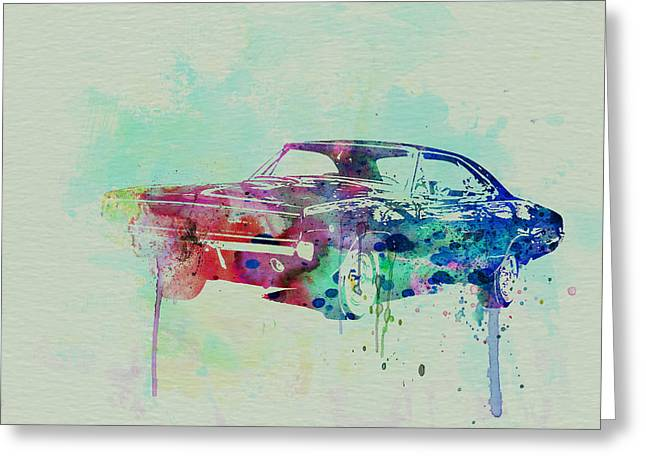 1967 Greeting Cards - 1967 Dodge Charger  2 Greeting Card by Naxart Studio