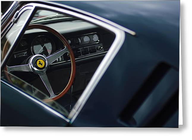 Car Show Photography Greeting Cards - 1967 Ferrari 275 GTB-4 Berlinetta Greeting Card by Jill Reger