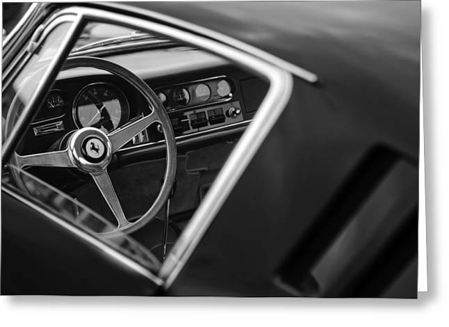 1967 Greeting Cards - 1967 Ferrari 275 GTB-4 Berlinetta Steering Wheel Greeting Card by Jill Reger