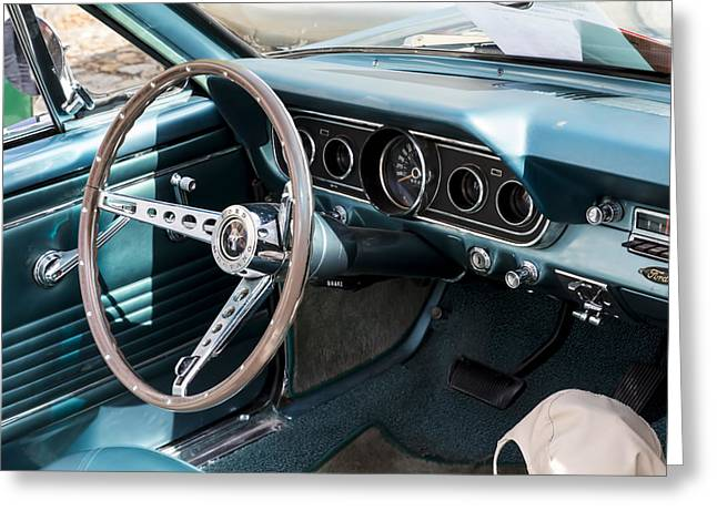 Beautiful Car Greeting Cards - 1967 Ford Mustang Interior  Greeting Card by Nomad Art And  Design
